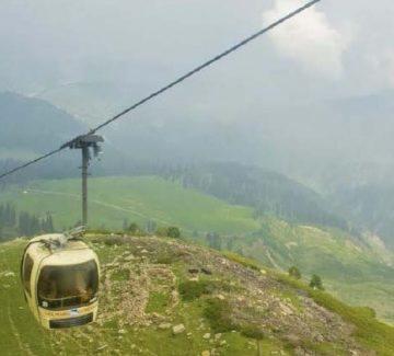 Góndola hacia Affarwat Peak