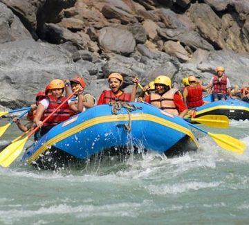 Rafting en el Ganges
