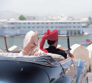 Taj Lake Palace Udaipur - Llegada en Auto Vintage