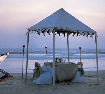 The Taj Exotica, Goa - Cena en la playa