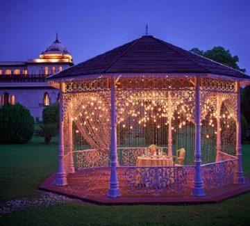 Cena en Rambagh Palace Jaipur