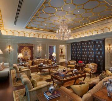 Leela Palace – New Delhi - Maharaja Suite Sitting Room